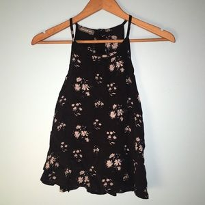 Don't ask why- Flowy floral with split open back